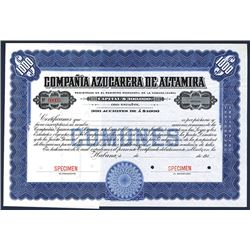 Compania Azucarera De Altamira. 191x. Specimen Stock.