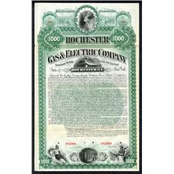 Rochester Gas & Electric Co. 1892 Specimen Bond