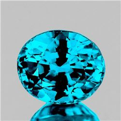 NATURAL TOP ELECTRIC BLUE ZIRCON 3.92 Ct - FL