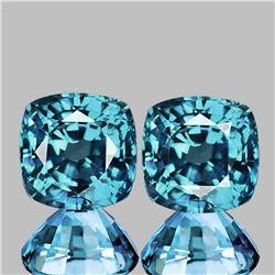Natural Top Seaform Blue Zircon Pair Flawless-VVS1}