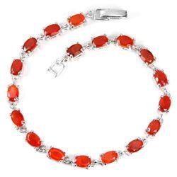 NATURAL AA ORANGE FIRE OPAL OVAL Bracelet