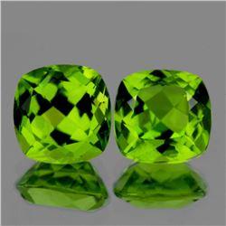 Natural AAA Green Peridot Pair 8.00 MM