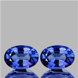 Natural Top Ceylon Blue Sapphire Pair 6x4 MM