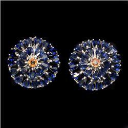 Natural Blue Sapphire Earrings