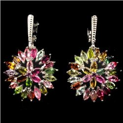 Natural Fancy Colors Marquise Tourmaline Earrings