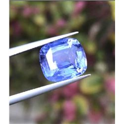 Natural Unheated Violet Sapphire 5.37 Ct - Certified