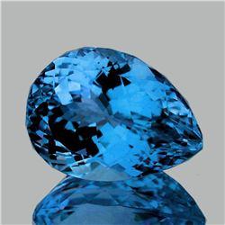 Natural Magnificent AAA Swiss Blue Topaz 24x17 MM - FL