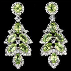 NATURAL AAA GREEN PERIDOT Earrings