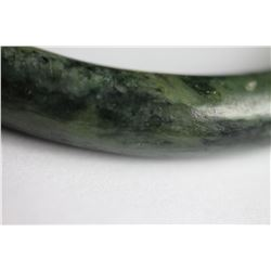 Natural Mottled Green jade Bangle - GIA Certified