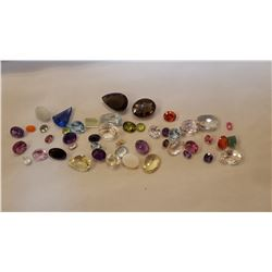 OVER 225 CTTW MIXED COLORED GEMSTONES.