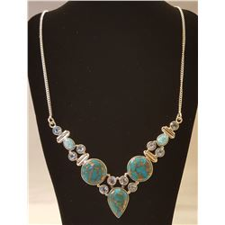 BEAUTUFUL 25 CT NATURAL ARIZONA BLUE TURQUOISE AND