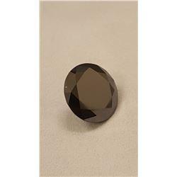 GORGEOUS RARE 18 CT BLACK DIAMOND MOISSANITE