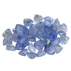 10.92 ctw Triangle Mixed Tanzanite Parcel