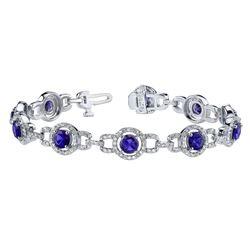14k Gold 7.24CTW Diamond Bracelet, (SI3-I1/H-I)