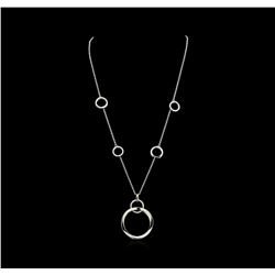 1.01 ctw Diamond Necklace - 14KT White Gold