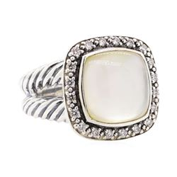 David Yurman Mother Of Pearl and Diamond Ring - Sterling Silver
