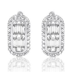 14k White Gold 1.13CTW Diamond Earrings, (SI3/VS1-VS2/G-H/H-I)