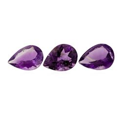 22.27 ctw.Natural Pear Cut Amethyst Parcel of Three