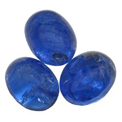 15.7 ctw Cabochon Mixed Tanzanite Parcel