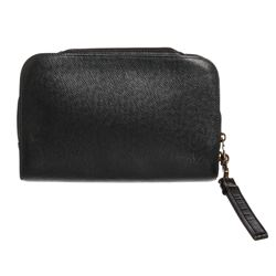 Louis Vuitton Dark Green Taiga Leather Baikal Wristlet Clutch Bag