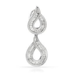 18k White Gold 0.52CTW Diamond Pendant, (SI3/H-I)