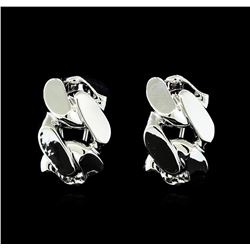 14x22mm Chain Hoop Earrings - Silver Plated