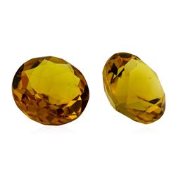 8.62 ctw.Natural Round Cut Citrine Quartz Parcel of Two