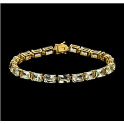 20.90 ctw Aquamarine Bracelet - 14KT Yellow Gold