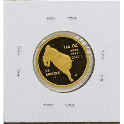 1987 Singapore 1/4 Oz. Gold Coin Year of the Rabbit