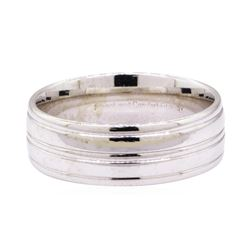 Comfort Fit Man's Band - 14KT White Gold