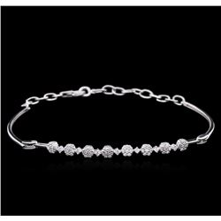 0.51 ctw Diamond Bracelet - 14KT White Gold