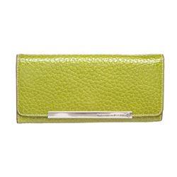 Pelle Borsa Green Pebbled Leather Long Wallet