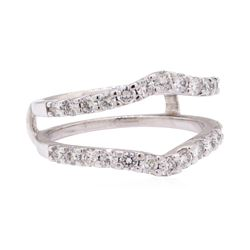 0.90 ctw Diamond Ring Guard - 14KT White Gold