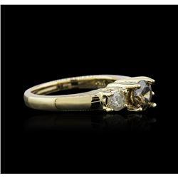 14KT Yellow Gold 0.98 ctw Brown Diamond Ring