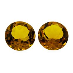 12.04 ctw.Natural Round Cut Citrine Quartz Parcel of Two