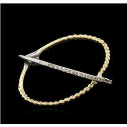 0.07 ctw Diamond Ring - 14KT Two-Tone