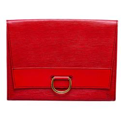 Louis Vuitton Red Epi Leather Lena Clutch Bag