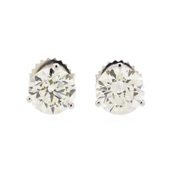 3.03 ctw Diamond Earrings - 14KT White Gold