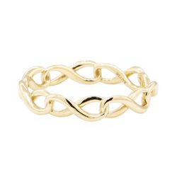 Tiffany and Company Infinity Motif Eternity Ring - 18KT Yellow Gold
