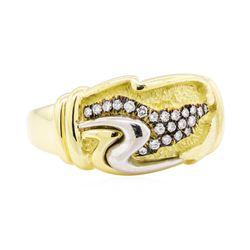 0.20 ctw Diamond Ring - 18KT Yellow Gold and Platinum