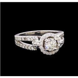 1.04 ctw Diamond Ring - 14KT White Gold