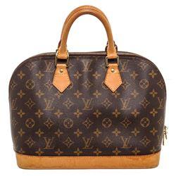 Louis Vuitton Monogram Canvas Leather Alma MM Handbag