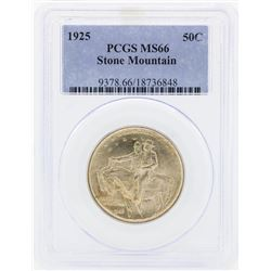 1925 Stone Mountain Commemorative Half Dollar Coin PCGS MS66
