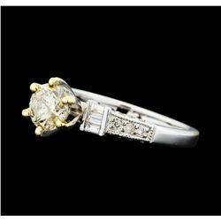 1.01 ctw Diamond Ring - 18KT Yellow And White Gold