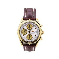 Breitling Chronomat Wrist Watch  - 18KT Yellow Gold