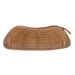 MCM Beige Crocodile Evening Clutch Bag
