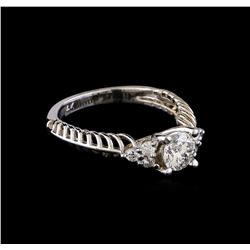 0.90 ctw Diamond Ring - 14KT White Gold