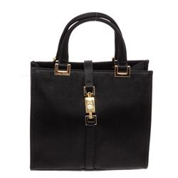 Gucci Black Satin Jackie Mini Tote Handbag