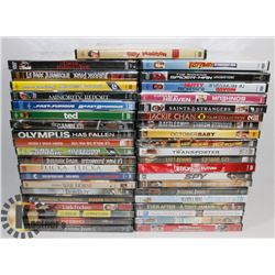 BOX OF ASSORTED NEW DVDS