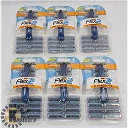 BAG OF BIC FLEX 2 RAZORS